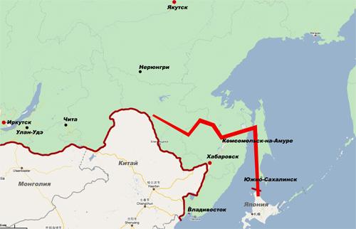 Расположение Восточного коридора развития