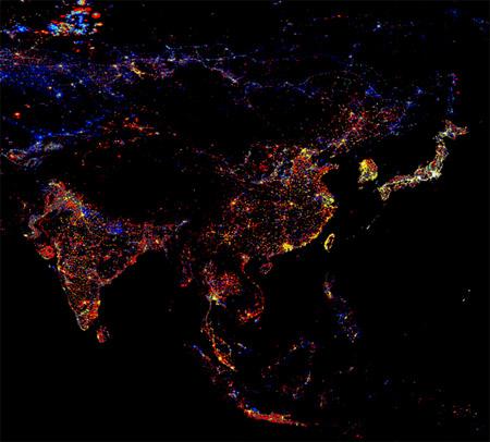 Распределение интенсивности света на Дальнем Востоке России